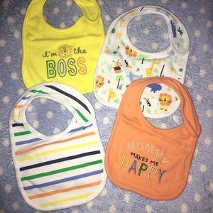 Cute set of 4 Baby bibs